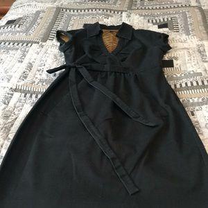 Donna Ricco Size 12 Black twill dress.